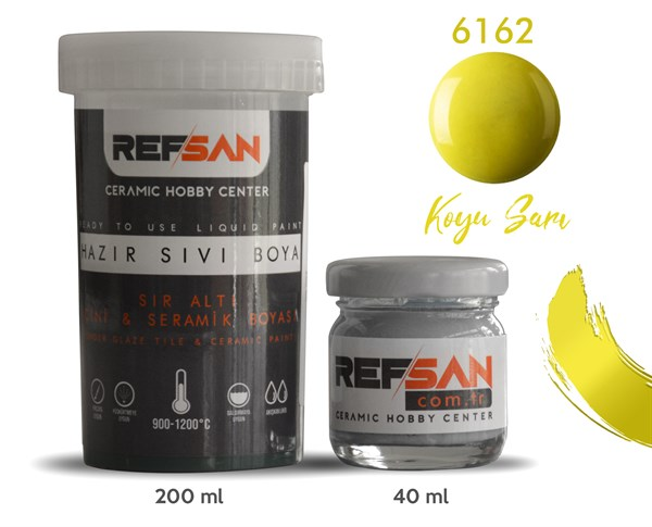 REFSAN READY TO USE CERAMIC PAINT 6162 DARK YELLOW