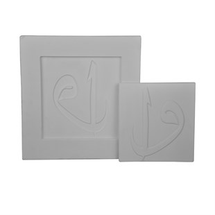 SQUARE PLASTER MOLD / ELİF-VAV PLAQUE