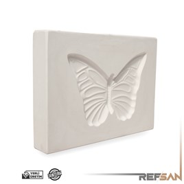 PLASTER MOLD | BUTTERFLY PLAQUE