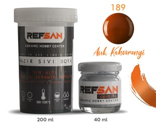 REFSAN READY TO USE CERAMIC PAINT 189 GOLD BROWN