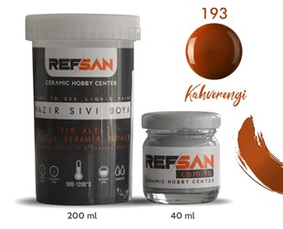 REFSAN READY TO USE CERAMIC PAINT 193 BROWN