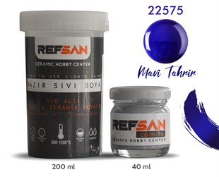 REFSAN READY TO USE CERAMIC PAINT 22575 ROYAL BLUE (FOR DRAWING)
