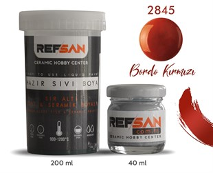 REFSAN READY TO USE CERAMIC PAINT 2845 CLARET RED