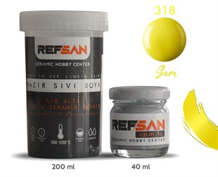 REFSAN READY TO USE CERAMIC PAINT 318 YELLOW