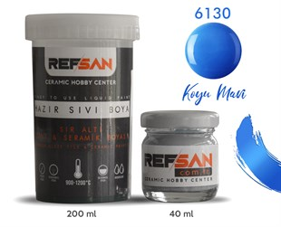 REFSAN READY TO USE CERAMIC PAINT 6130 DARK BLUE