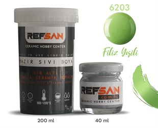 REFSAN READY TO USE CERAMIC PAINT 6203 SPROUT GREEN