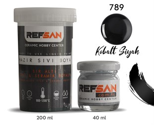 REFSAN READY TO USE CERAMIC PAINT 789 COBALT BLACK