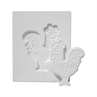 PLASTER MOLD | ROOSTER PLAQUE