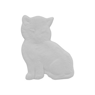 CAT PLAQUE | CERAMIC BISQUE