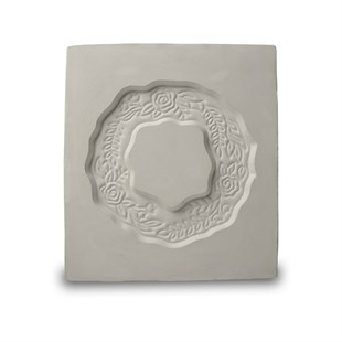 PLASTER MOLD | ROUND DECORATED FRAME